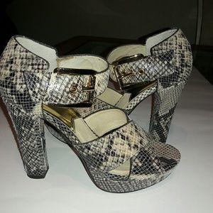 MK Snake Skin Platform Sandal
